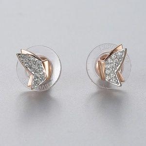 Swarovski Lilia Pierced Earrings, Rose-Gold Tone